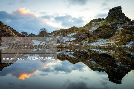 Fairy Glen at sunrise, Isle of Skye, Inner Hebrides, Scotland, United Kingdom, Europe