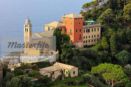 Church of San Giorgio, Portofino, province of Genoa, Liguria, Italy, Europe