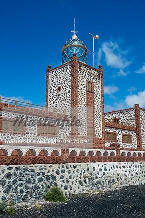 Entallada Lighthouse, Fuerteventura, Canary Islands, Spain, Atlantic, Europe