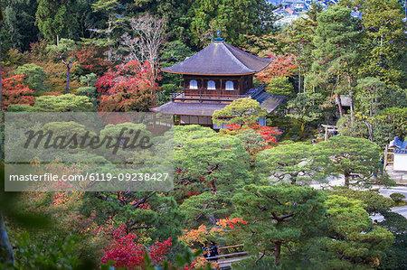 Ginkakuji Temple, UNESCO World Heritage Site, Kyoto, Japan, Asia