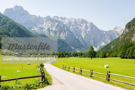 Alpine valley of Logarska Dolina, Slovenia, Europe