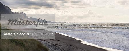 Matata Beach at sunset, Bay of Plenty, North Island, New Zealand, Pacific