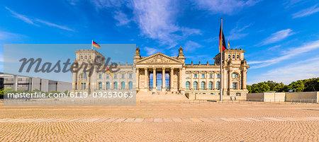 Reichstag building in Berlin, Germany, Europe