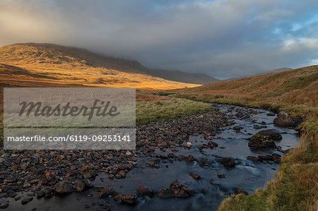 Maumturk Mountains, Connemara, County Galway, Connacht, Republic of Ireland, Europe