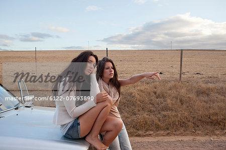 Girls getting direction