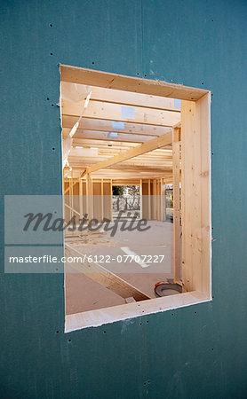 Window of building under construction
