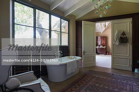 Home showcase bathroom with soaking tub