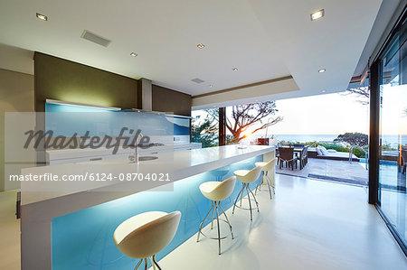 Modern luxury home showcase kitchen