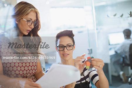 Innovate female entrepreneurs discussing prototype