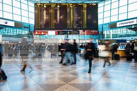 Finland, Helsinki, Terminal of Helsinki Airport