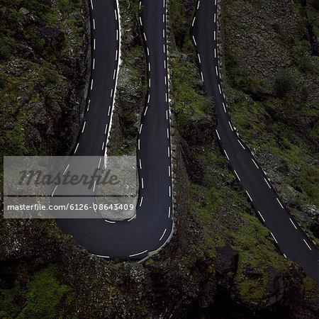 Norway, Trollstigen, Winding road in summer
