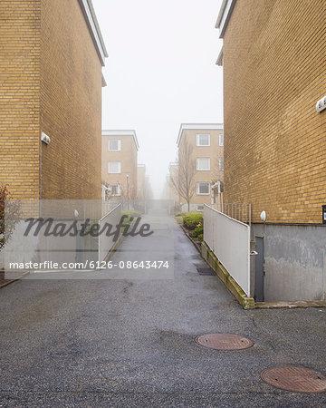 Sweden, Skane, Malmo, Gula Hoja, Residential area in winter