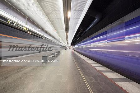 Sweden, Skane, Malmo, Central station interior