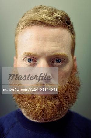 Sweden, Portrait of bearded man