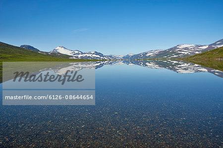 Sweden, Lapland, Padjelanta National Park, Sarjasjaure,