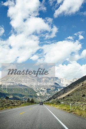 View on high peak in Sierra Nevada