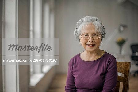 Portrait of a smiling senior woman.
