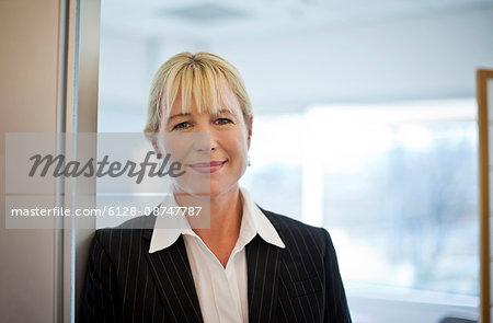 Businesswoman in her office.