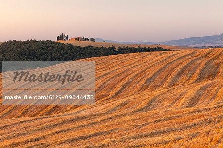 Vitaleta chapel, Orcia valley, Pienza, Siena province, Tuscany, Italy.