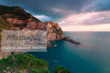 Europe,Italy,Liguria,Cinque Terre, La Spezia district. Manarola