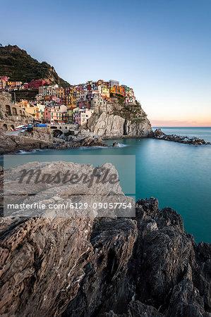 Village of Manarola, Cinque Terre, Riviera di Levante, Liguria, Italy