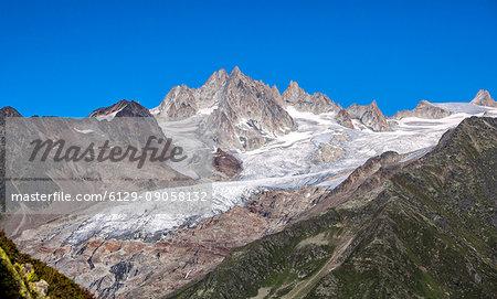 View of Aiguille Du Chardonnet. Mont Blanc. Haute Savoie. France