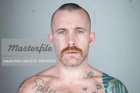 male, tattoos, portriat, gay, studio