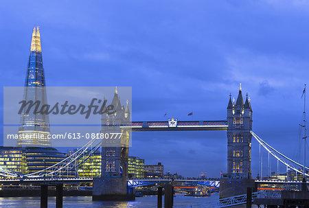 Tower Bridge River Thames and Shard Skyscraper