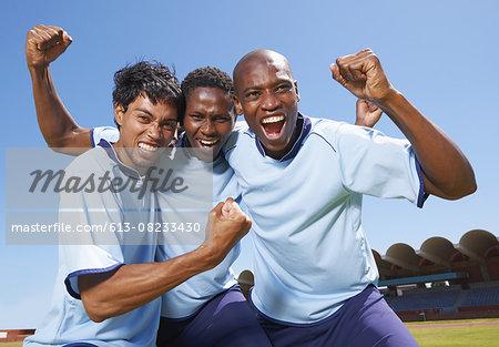 Celebrating a team goal