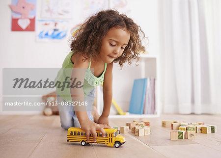 Vroom goes the school bus