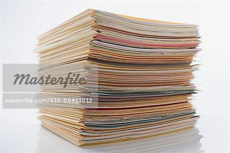 Pile of paperwork in files