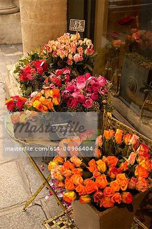 Roses outside paris florist
