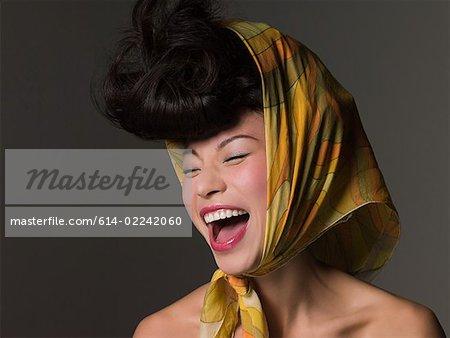 Woman in a headscarf