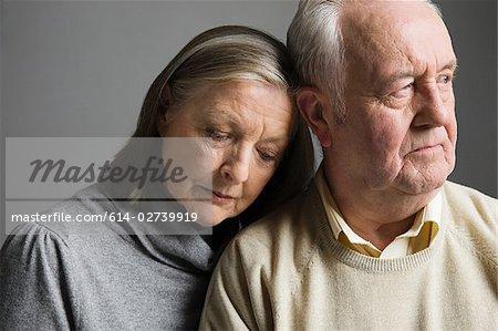 Couple looking worried