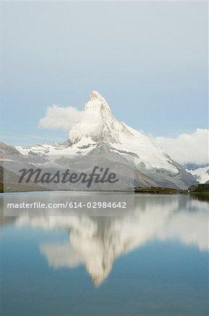 Matterhorn reflected in lake