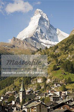 Swiss town near matterhorn