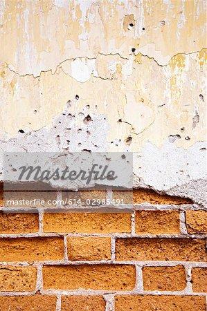 Close up of a broken wall