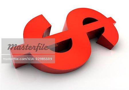 Sloping dollar sign