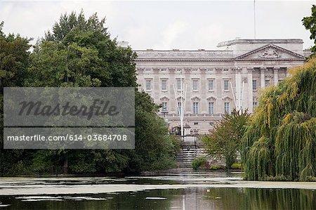 Lake at St James's Park and Buckingham Palace, London