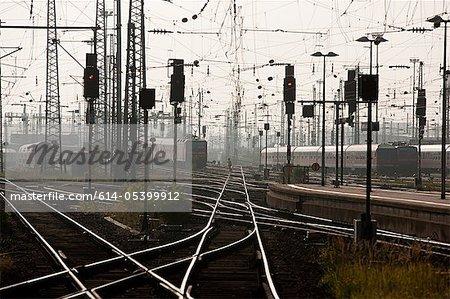 Railway tracks, Frankfurt, Germnay