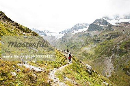 Family hiking in Alps, Tirol, Austria