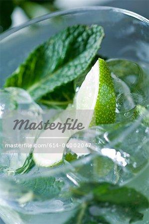 Close up of mojito cocktail