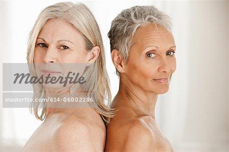 Portrait of senior and mature women