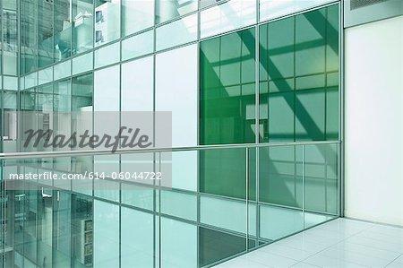 Balcony in empty office block