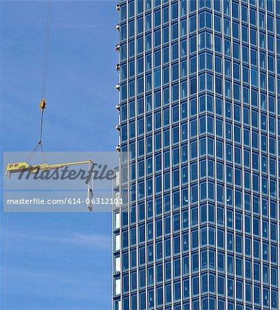 Construction of new European Monetary Bank, Frankfurt, Hesse, Germany