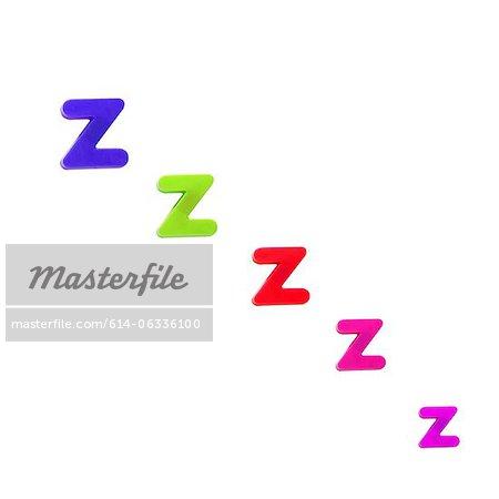 Letter Z fridge magnets