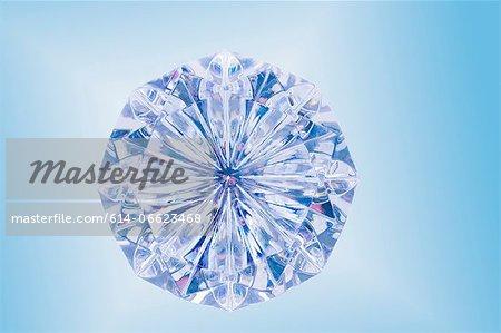 Close up of cut diamond