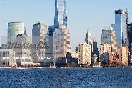 New York City skyline and water