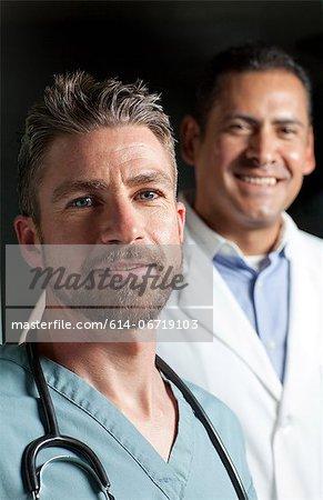 Doctors smiling together
