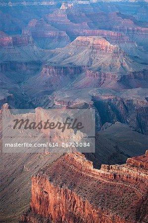 Rock formations in dry desert landscape